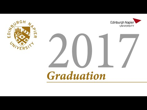 Edinburgh Napier Graduation Ceremony Wednesday 28th June 2017