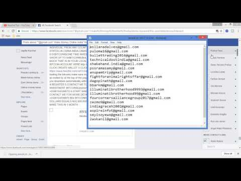 Free tool for collect targeted email addresses from facebook in hindi