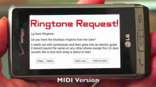 "Ringtone Request: ""Mystique"" from the LG Dare"