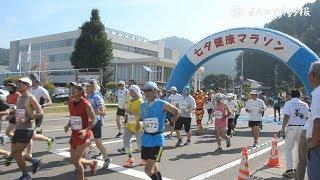猛暑の街中、駆け抜ける 湯沢市で七夕マラソン大会