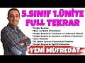 5. SINIF 1. ÜNİTE FULL TEKRAR - DOĞAL SAYILAR ve DOĞAL SAYILARLA İŞLEMLER - MATEMATİK