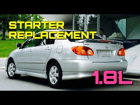 Toyota Corolla Starter Replacement 1 8l 2003 2004 2005 2006 2007 2008 Matrix Pontiac Vibe