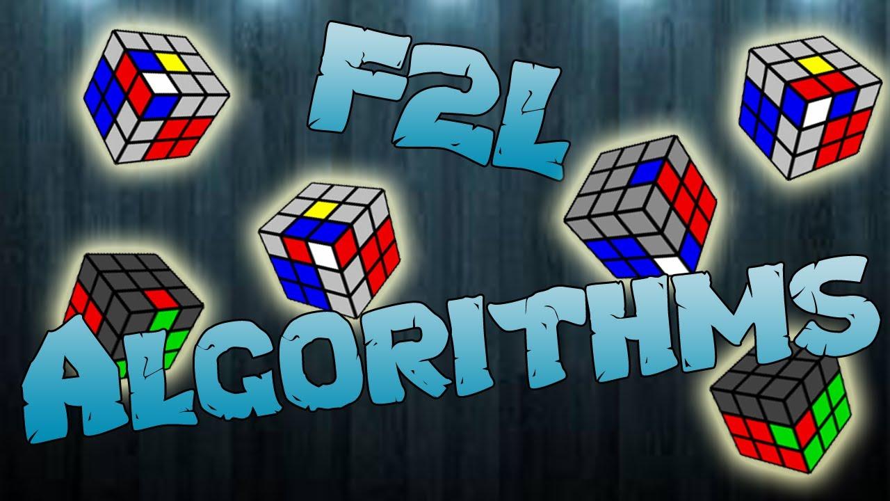 f2l algorithms easy cases youtube