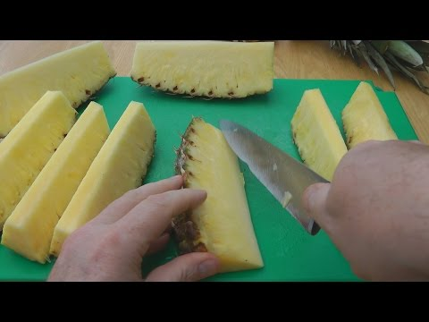 How To Cut A Pineapple - How To Cut Pineapple - Cutting A Pineapple