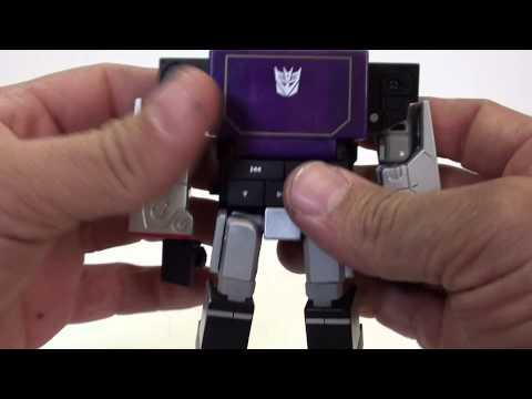 Review de Transformers Soundwave ( black version) MP3 Music Label de Takara por Javitron en Español