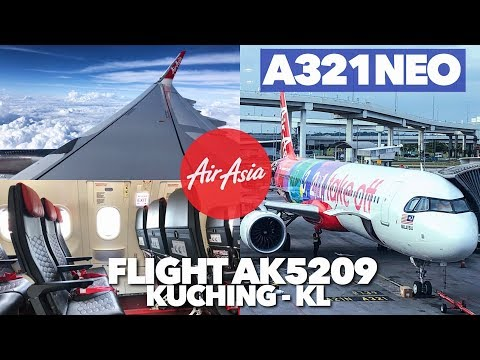 The First AIRASIA A321NEO Flight Review! 3, 2, 1, Take Off From Kuching To KL, Best Giler!