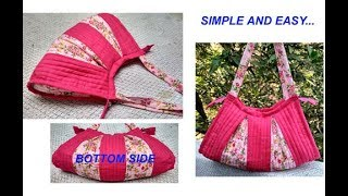 handmade handbags cutting and stitching in hindi / shopping bag / travel bag / shoulder bag