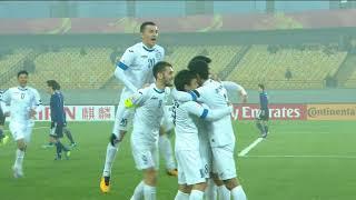 Jasurbek Yakhshiboev picks up his second goal of the match!