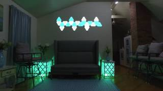 PHILIPS HUE AND NANOLEAF AURORA LIGHTS IN LIVING TOUR