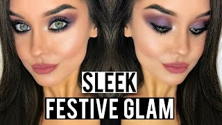 FESTIVE GLAM MAKEUP FEAT. SLEEK BOX OF TRICKS CHRISTMAS GIFT SET | KatesBeautyStation | ad(In this festive glam makeup tutorial I'm unboxing the Sleek Box Of Tricks makeup gift set and creating a purple smokey eye makeup look which I think would be a ..., 2016-12-14T17:00:08.000Z)