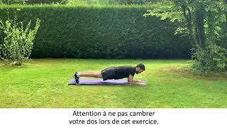 Enchaînement d'exercices en gainage dynamique