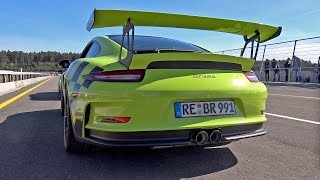 Porsche 991 GT3 RS w/ Akrapovic Exhaust System! Great Sounds!