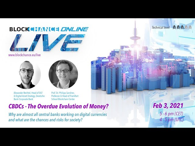 CBDC: The Overdue Evolution of Money? - BLOCKCHANCE Online LIVE #4