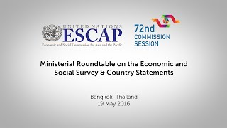 CS72: Ministerial Panel on the Economic and Social Survey & Country Statements