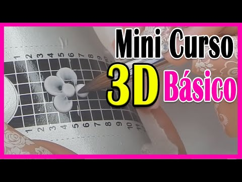 Uñas Acrílicas MINI CURSO básicos para 3D PRINCIPIANTES / Xnails Academy