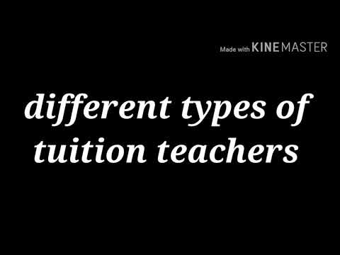 Different types of tuition teachers