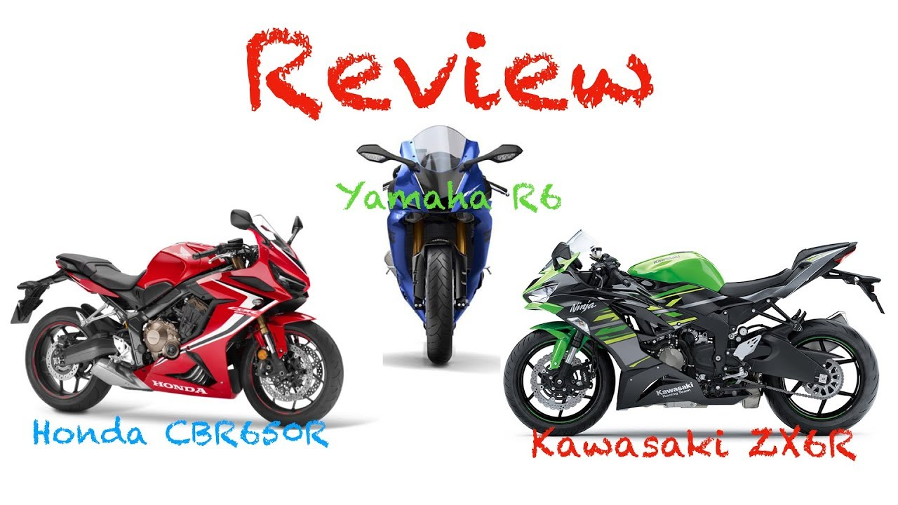 Review Honda Cbr650r Vs Kawazaki Zx6r Vs Yamaha R6 Youtube
