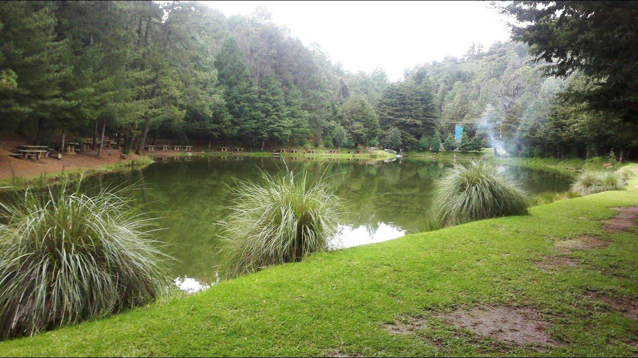 vista del lago del parque arcoiris