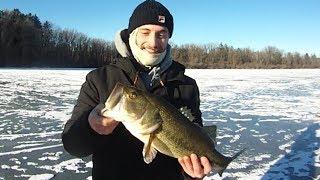 Hot Bass Ice Fishing Action at Lake Ontelaunee