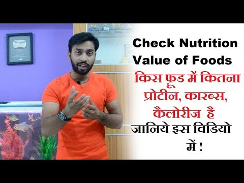 All food Nutrition Value check here...
