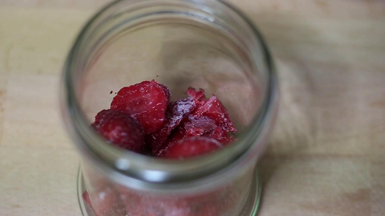 Smoothie de Fresas y Platano - receta facil