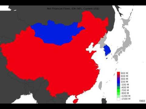 East Asia - Net Financial Flows, Ida - Time Lapse