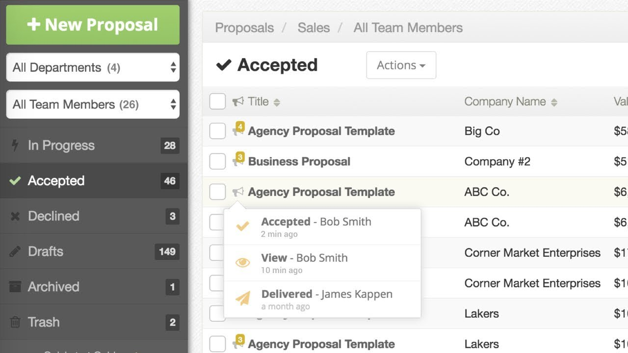 Proposable | Smart Proposal Software For Teams
