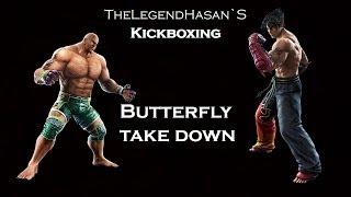 Kickboxing - Fighting combination - Butterfly take down (Full HD)