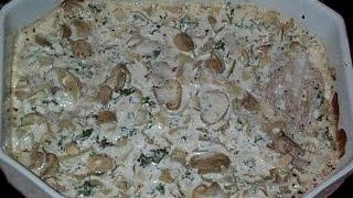 Mad i trin // Torsk m. cremet champignonsovs