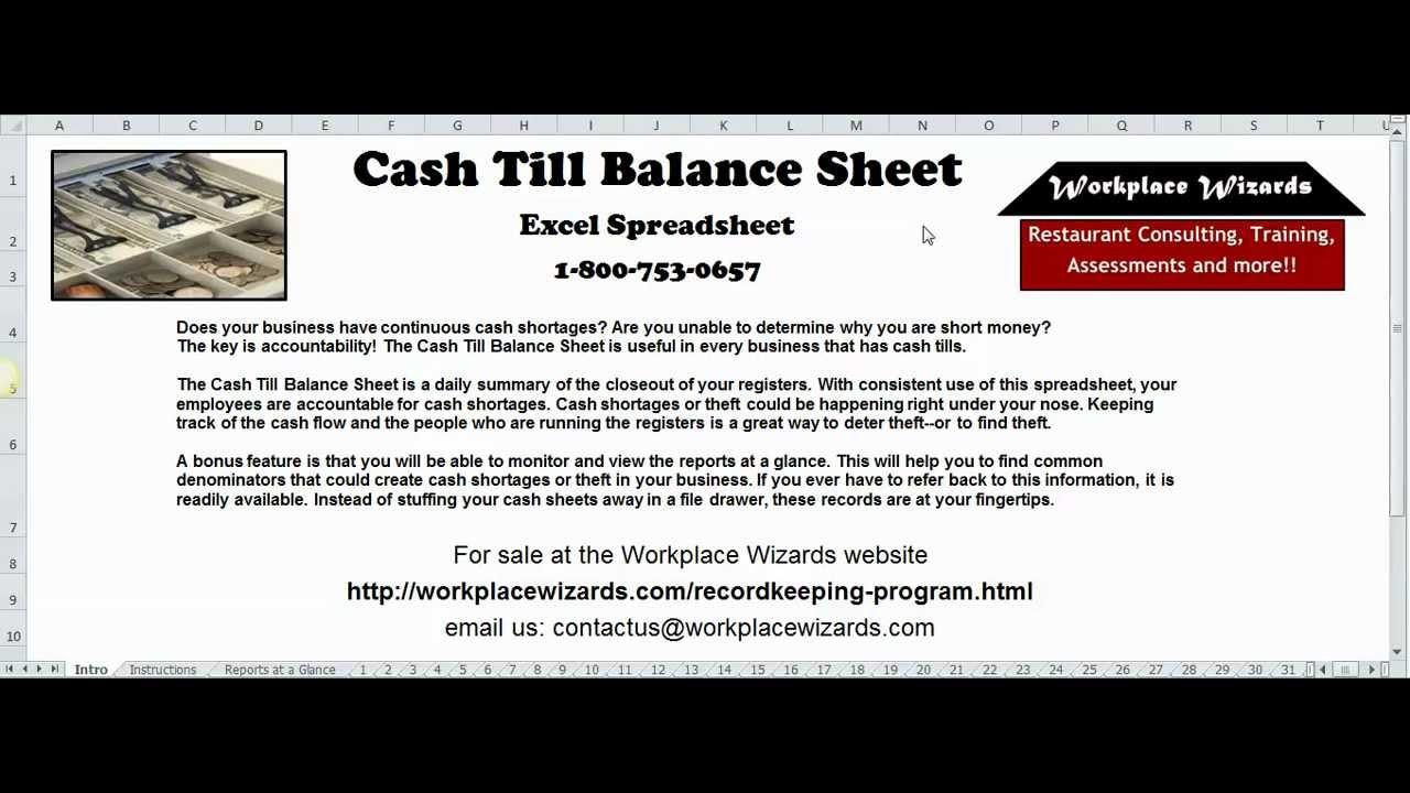 daily cash balance sheet