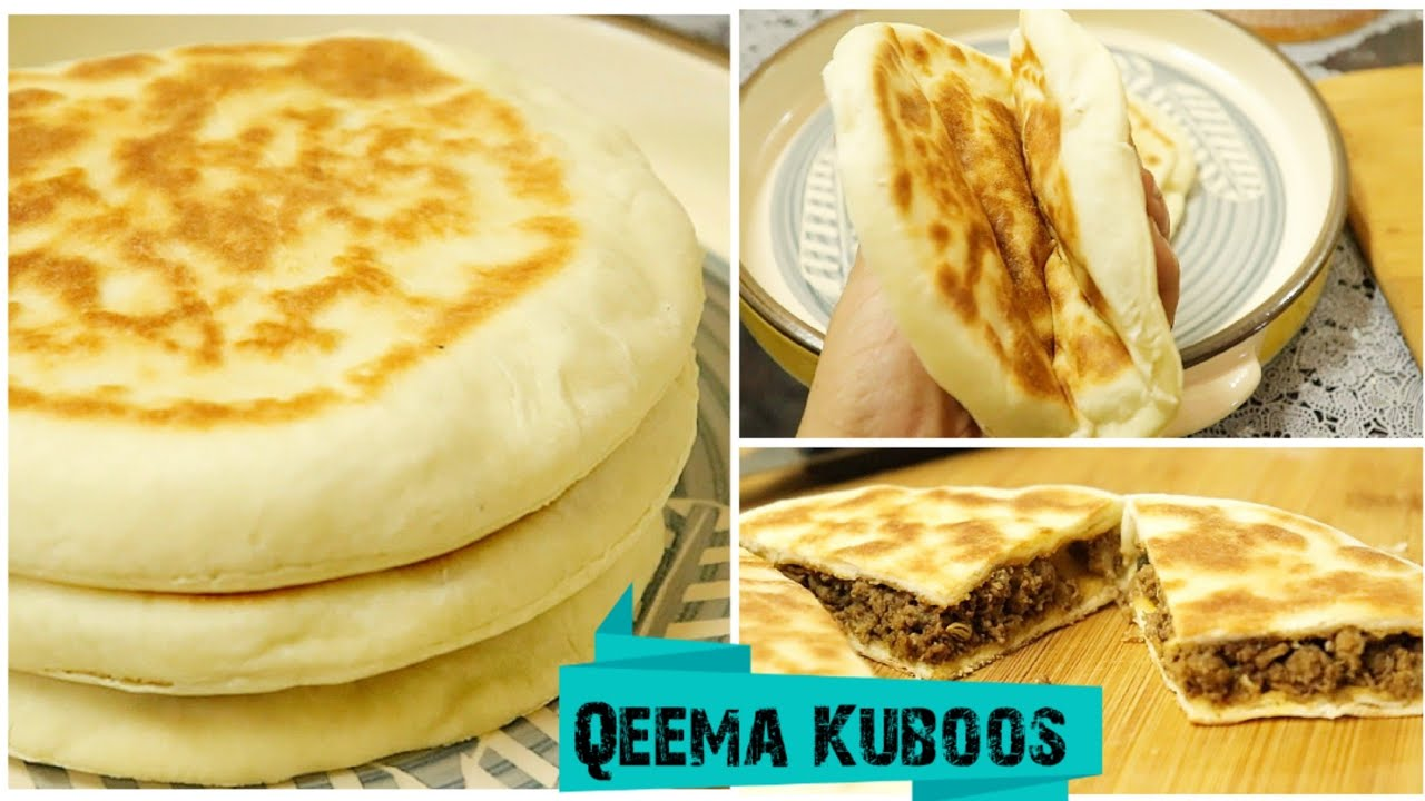 Mutton Qeema Kuboos / Shawarma Kuboos Extremely Soft Pita Bread (Arabic Bread)/ Turkish Bread