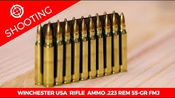 Winchester USA Rifle Ammo .223 Rem 55-gr. FMJ