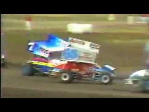 Watsonville Ocean Speedway - 1990 - Mike Sargent Wreck