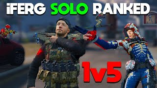 GRINDING FOR TOP 10 SOLO RANKED!🔴 I'm tryharding... with bad weapons... lol