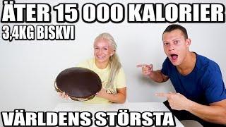 ÄTER 15,000 KALORIER *3,4KG BISKVI VÄRLDENS STÖRSTA*