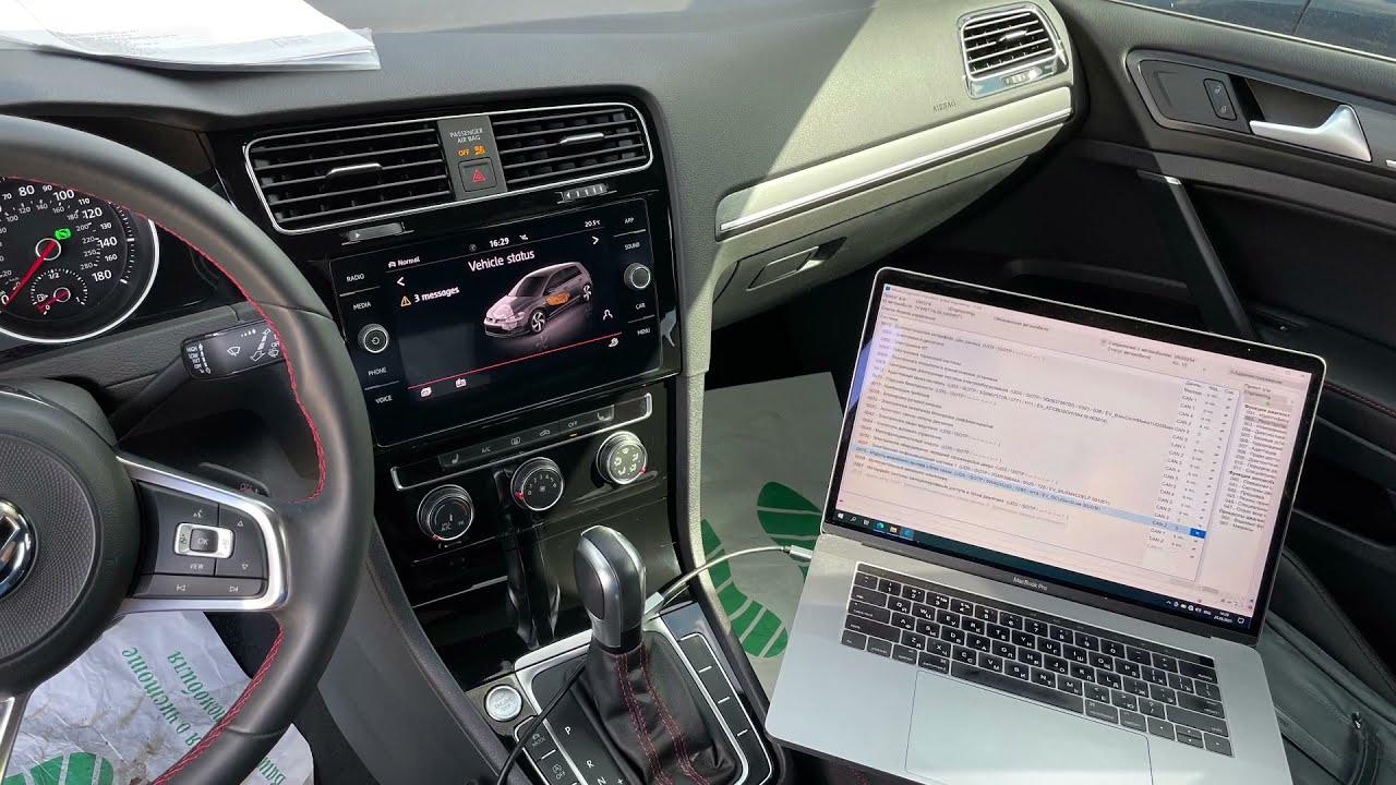 Восстановление ассистентов BSD/ RTA, задние LED-фонари. VW Golf 7.5 GTI Performance 2021.