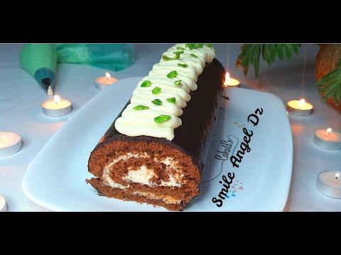 gâteau-roulé-au-chocolat-بيسكوي-رولي-بالشكولاطة-بطريقة-سهلة