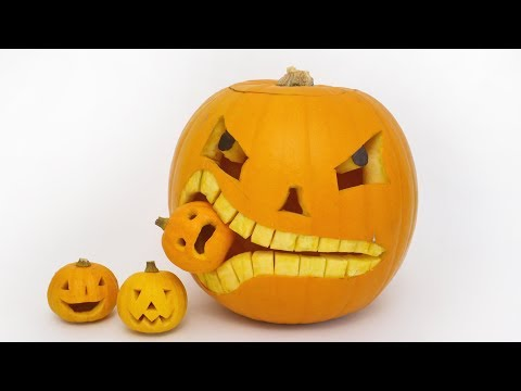 How to Carve a Pumpkin Eating a Pumpkin  Halloween