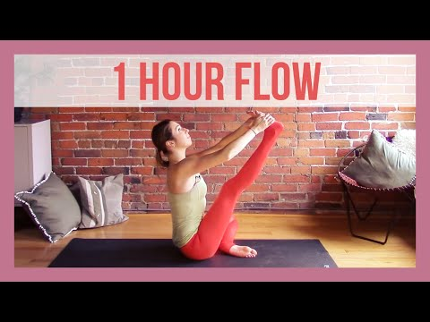 1 Hour Vinyasa Flow For Flexibility - 60 min Intermediate Yo