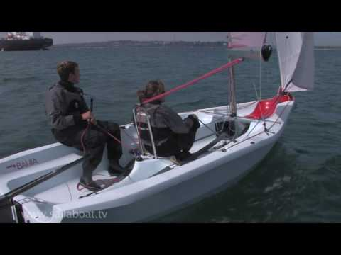 How to Gybe a two person small sailboat.