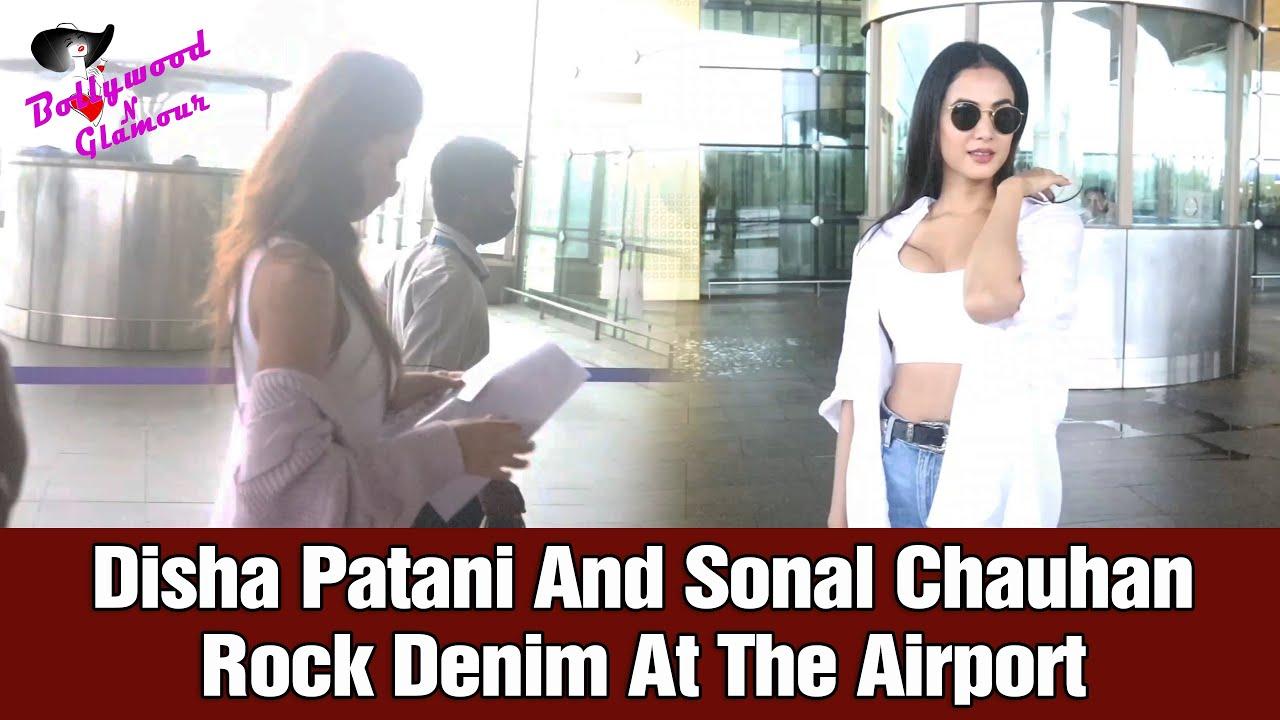 Disha Patani And Sonal Chauhan Rock Denim At The Airport