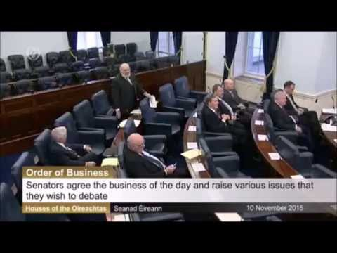 Mairia Cahill's Seanad candidacy is raised by David Norris and Gerard Craughwell