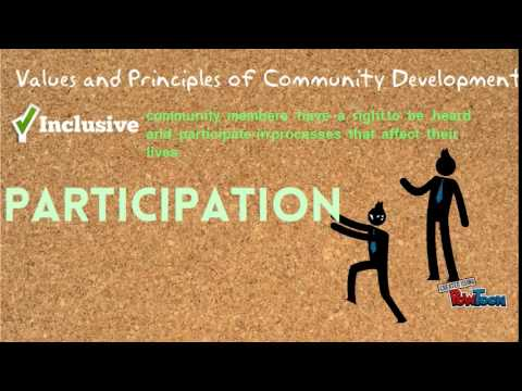 community development and its values principles