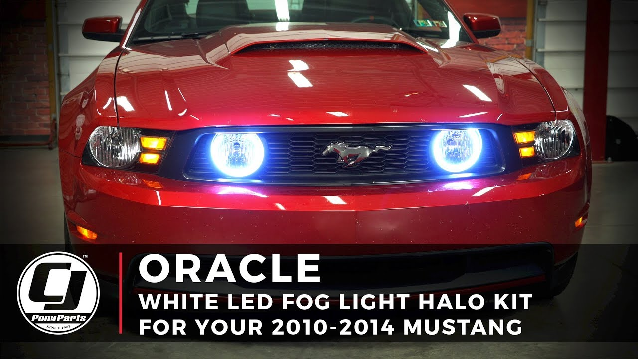 2010 2017 Ford Mustang Install Oracle Lighting Led Fog Light Halo Kit