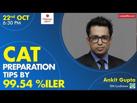CAT Preparation Tips By 99.54%iler And IIM Lucknow Student   Webinar