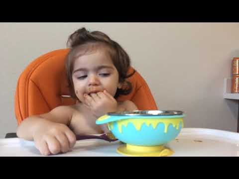 Toddler eating healthy food Princess Liana , Toys Review , Nursery rhymes