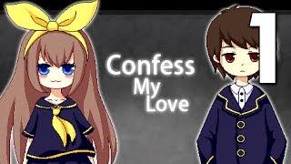 "Confess My Love - ""AMAZING"" Senpai Notices Me Game ( Ending 1-9 )Manly Let"