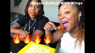 BLAZIN BUFFALO WILD WINGS CHALLENGE!!!!!!!