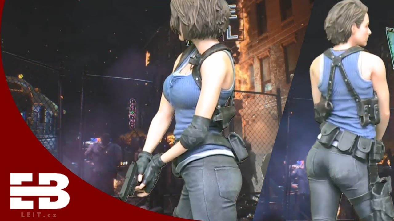 Jill Valentine Collector S Edition Statue Resident Evil 3 Remake Youtube