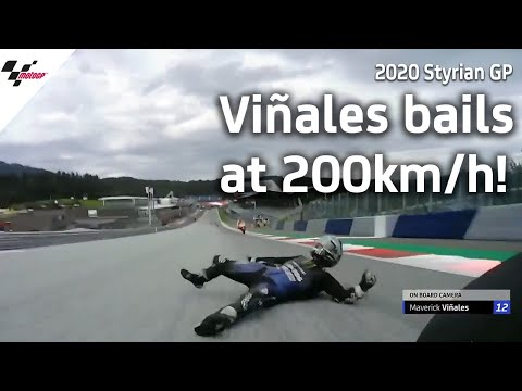 Viñales' scary crash at over 200kmh | 2020 Styrian GP